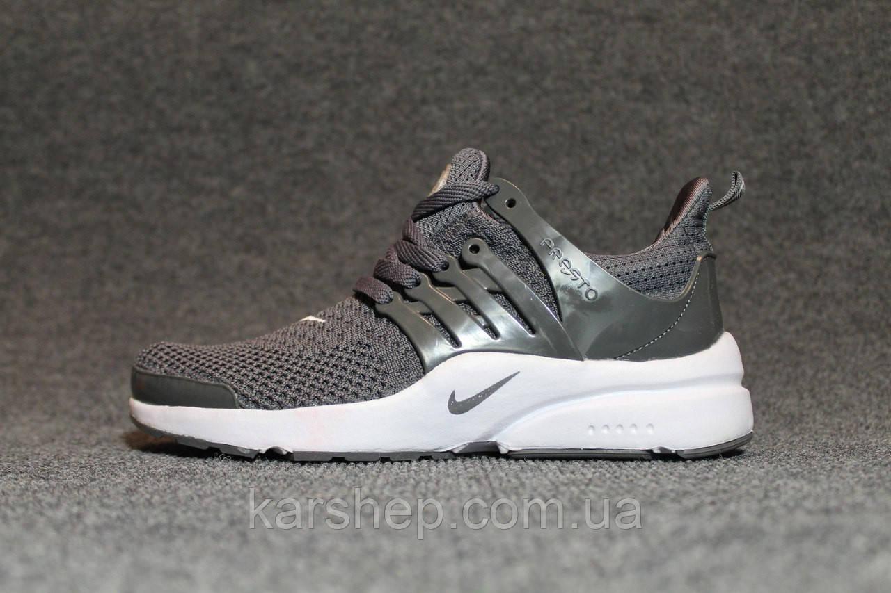 Серые мужские кроссовки Nike Presto копия