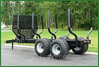 Тракторный прицеп с краном манипулятором PALMS 112