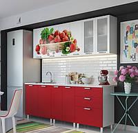 Кухня Клубника глянец фабрика SV Мебель 2,0 метра