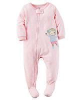 Флисовый слип пижама для девочки Carters 2Т, 3Т, 4Т, 5Т