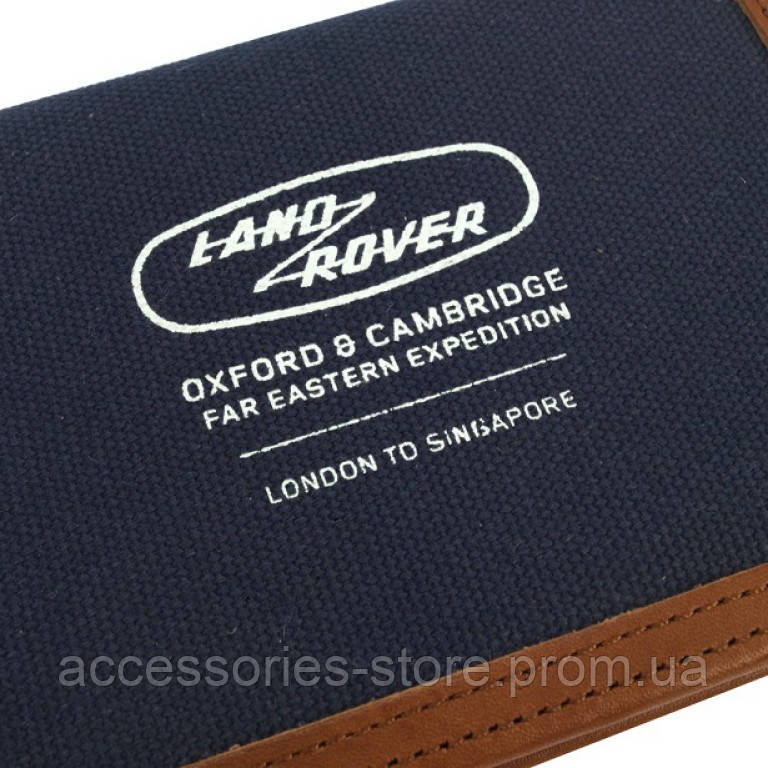 Обложка для паспорта Land Rover Heritage Passport Holder, Blue-Brown