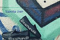 Женские удобные кожаные слипоны цвет:черный,синий,белый