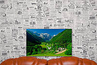 "Картина на холсте ""Логарская долина. Словения. Курорт. Природа"".  50х30 см."