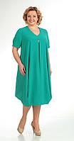 Платье Novella Sharm-2752 белорусский трикотаж из ткани Креп-шифон цвета бирюза