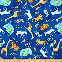 """Ткань для пэчворка и рукоделия американский хлопок """"Джунгли"""" - 22*55 см"""