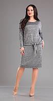 Платье нарядное Ива-899/1 белорусский трикотаж цвета серебро
