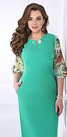 Платье Matini-31067 белорусский трикотаж цвета бирюза