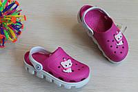 Детские двухцветные кроксы с мультгероями для девочки Crocs р. 20-22.5,25-31,5