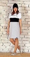 Платье для женщин Runella-1245 белорусский трикотаж из ткани Хлопок цвета Светло-серый