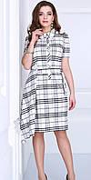 Платье красивое Matini-31050 белорусский трикотаж цвета белый с черным