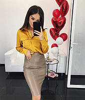 Стильная красивая шелковая женская блузка , фото 1