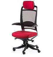 "Кресло компьютерное ""Special4You"" Fulkrum deepred fabric, black mesh E0635"