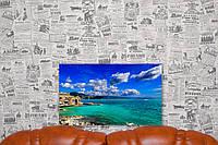 """Картина на холсте """"Лигурия. Побережье Италии. Природа"""". 50х30 см."""