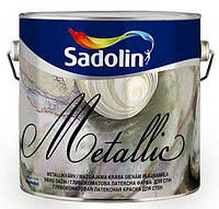 Краска Sadolin MetallicSilk 1л - Декоративная краска металлик (Садолин Металик Силк)