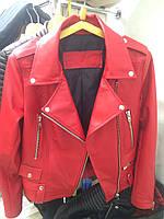 Женская кожаная куртка (красная)