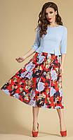Платье красивое TEFFI style-1252.1-3 белорусский трикотаж цвета Голубой