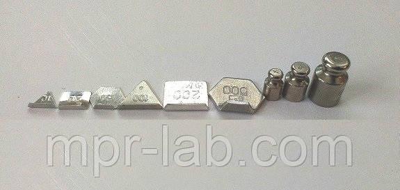 Набор разновесы  20, 50, 100, 200, 500, 1 г, 2 г, 5 г класса М1