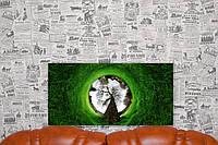 """Картина на холсте """"Природа. Деревья. Зелень"""". 60х30 см."""