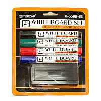 Набор маркеров для белой доски Tukzar 4 цвета