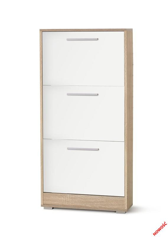Шкафчик для обуви Lima ST-1 Дуб сонома+белый