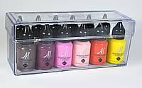 Бокс для хранения акриловых красок Прозрачный Пластиковый