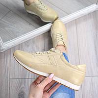 Кроссовки женские Show It беж золото, 39 размер спортивная обувь