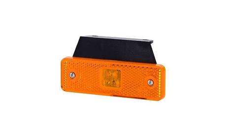 Габаритно - контурный фонарь HOR 55, оранжевый, с кронштейном, диодом LED и отражателем, 12/24 V, 0,5 м кабель, фото 2