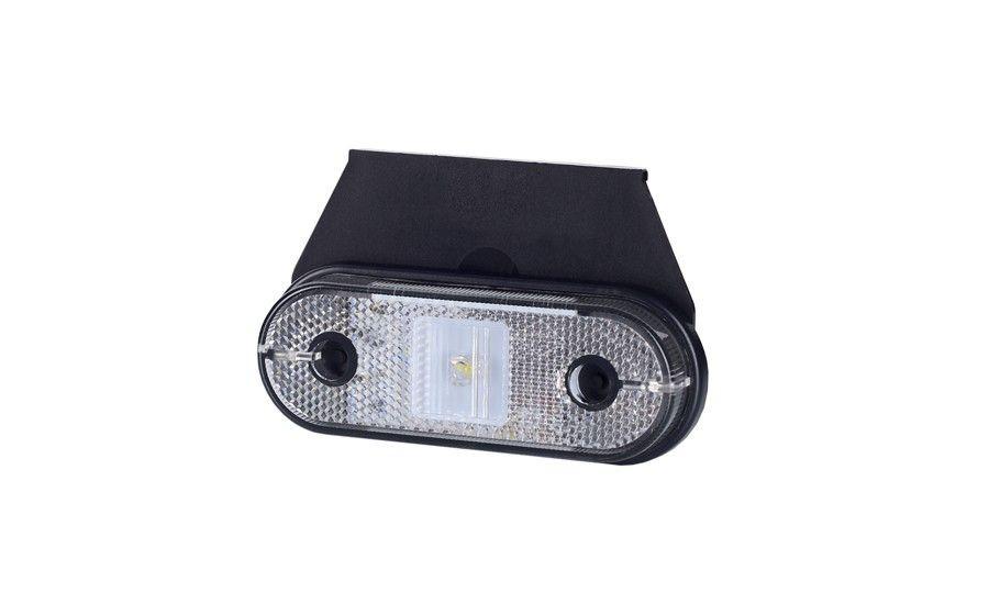 Габаритно - контурный фонарь HOR 61, белый, с диодом LED, отражателем и с кронштейном, кабель 0,5 м, 12/24 V