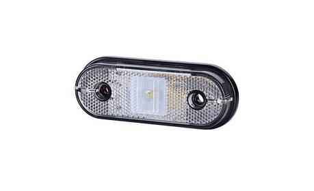 Габаритно - контурный фонарь HOR 61, белый, с диодом LED и отражателем, кабель 0,5 м, 12/24 V, на винтах, фото 2