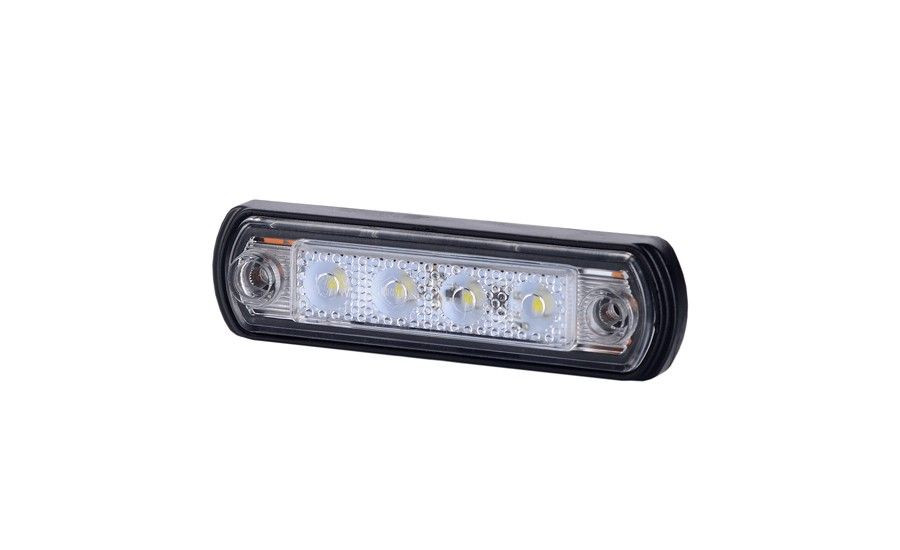 Габаритно - контурный фонарь с диодом LED, белый, 12/24 V, 0,25 м кабель