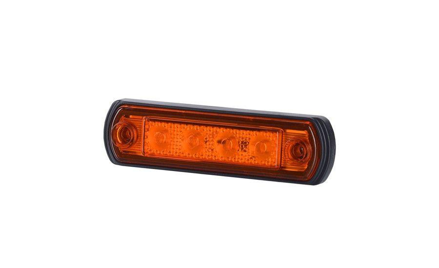 Габаритно - контурный фонарь с диодом LED, оранжевый, 12/24 V, 0,25 м кабель