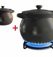 Набор термостойкой керамической посуды (кастрюля 2,75 л, кастрюля 3,3 л) черная Sacher SHKP00064-AK