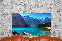 "Картина на холсте ""Озеро Морейн. Канада. Природа"". 70х40 см."