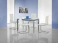 Раскладной стеклянный  стол Lambert 120*80 (Halmar)