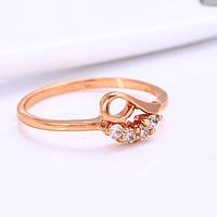 Женское кольцо Gold filled 18k