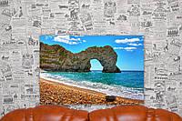 """Картина на холсте """"Дердл-Дор. Скальные ворота. Англия. Природа"""". 60х40 см."""
