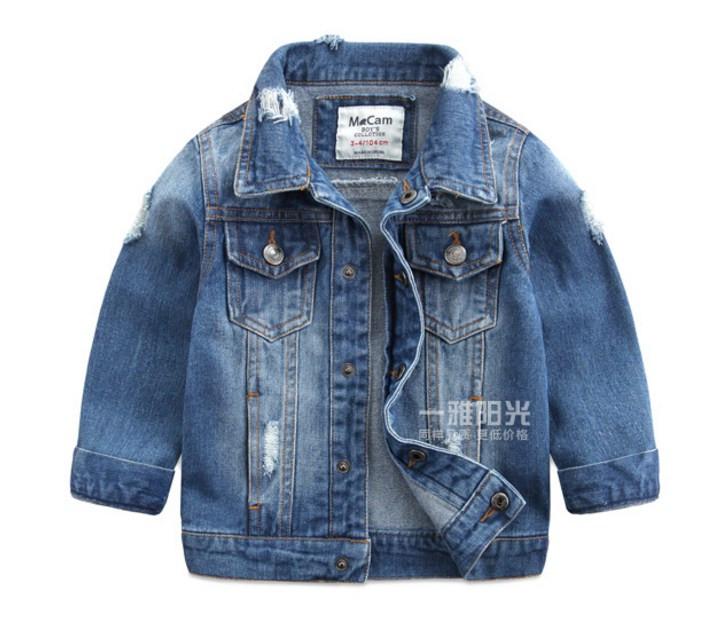 Детская джинсовая куртка на мальчика 104