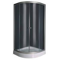 Душевая кабина 100*100 см с мелким поддоном, стекло (5мм) прозрачное, профиль хром (в комплекте)