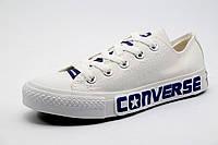 Кеды Converse унисекс текстиль, белые, р. 37 38