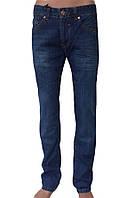 Приуженные мужские джинсы темно-синие