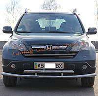 Защита переднего бампера труба двойная из нержавейки на Honda CR-V 2007-2012 2009