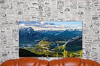 """Картина на холсте """"Гора Салфер. Пейзаж. Природа"""". 70х40 см."""