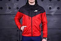 Виндранер, ветровка, куртка весенняя, осенняя! Windrunner Nike Черный+карсный