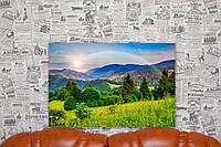 """Картина на холсте """"Природа. Лес. Пейзаж. Луга"""". 60х40 см."""