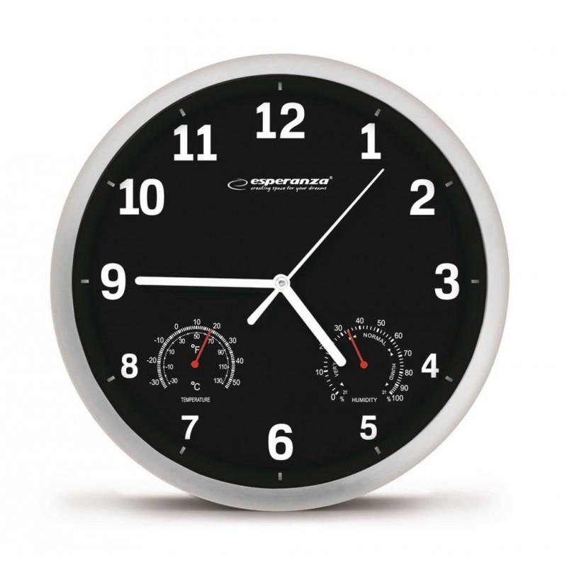 Часы настенные Esperanza Lyon EHC016 Black