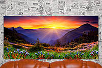 "Картина на холсте ""Солнце. Горы. Пейзаж. Природа"".  110х50 см."