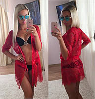 Женская пляжная накидка материалкружево ресничка