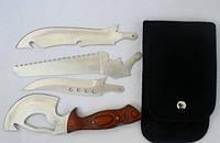 Туристический нож 4 в 1 (сменные лезвия)