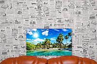 "Картина на холсте ""Океан. Пальмы.Голубая лагуна. Природа"".50х30 см."