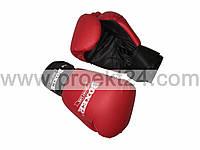 Перчатки бокс. 12 оz Кожвинил (пара), красные